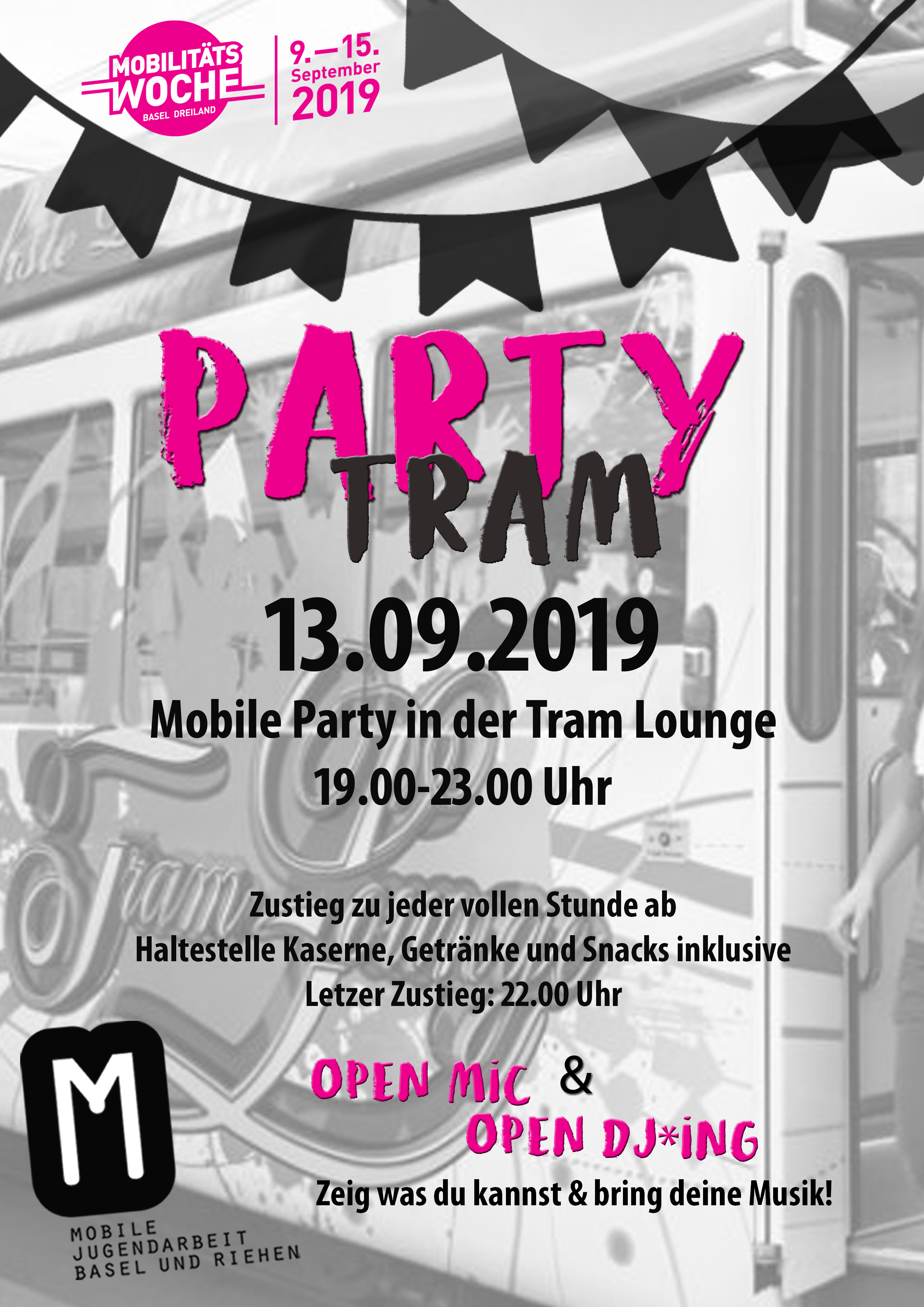 Mowo Partytram Flyer